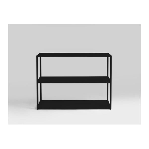 Hyller fekete könyvespolc, magassága 75 cm - Custom Form