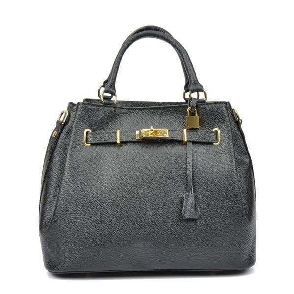 Černá kožená kabelka Isabella Rhea Paris