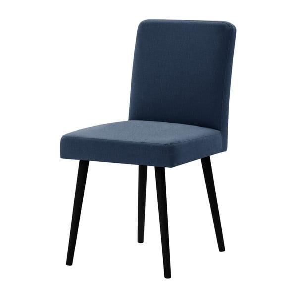 Modrá židle s černými nohami z bukového dřeva Ted Lapidus Maison Fragrance