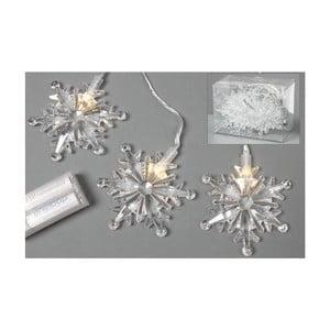 Světelný LED řetěz Snowflakes, 90 cm