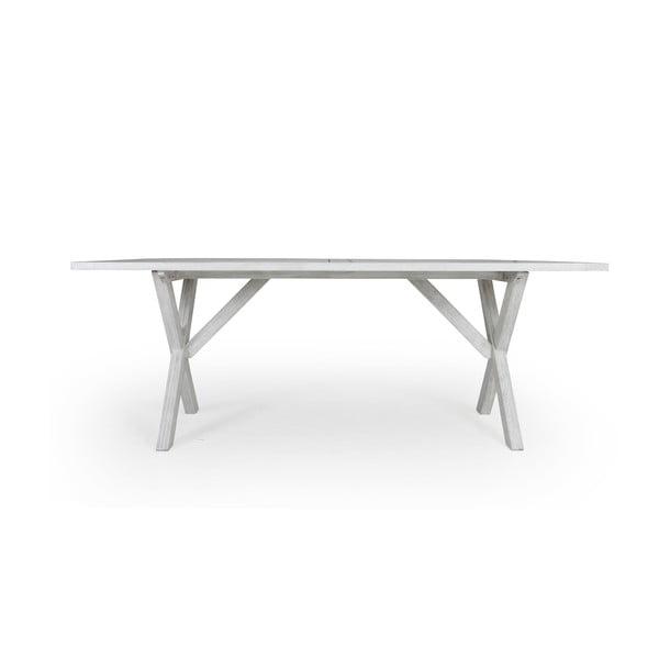 Bílý zahradní jídelní stůl Brafab Arizona, 200x90cm