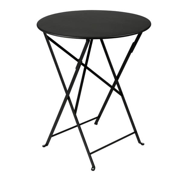 Černý skládací kovový stůl Fermob Bistro