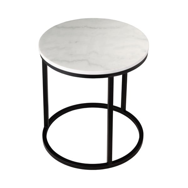 Marmurowy stolik z czarną konstrukcją RGE Accent, ⌀ 50 cm