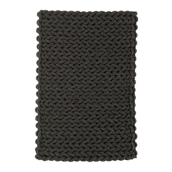 Vlněný koberec Helix Charcoal, 120x170 cm