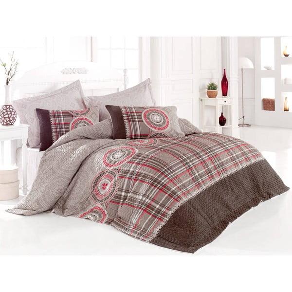 Sada prošívaného přehozu přes postel a dvou povlaků na polštář Seasons 250, 220x230 cm;