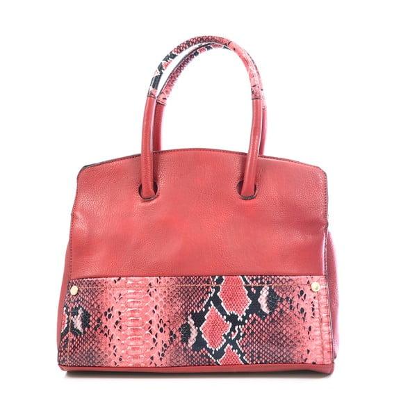 Kožená kabelka Chiara, červená