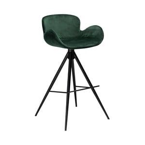Tmavě zelená barová židle DAN–FORM Denmark Gaia Velvet, výška 98 cm