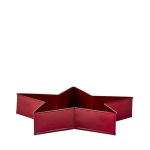 Červený servírovací tác ve tvaru hvězdy KJ Collection, 26,5 cm