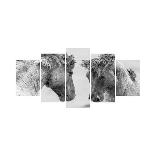 Vícedílný obraz Black&White no. 57, 100x50 cm