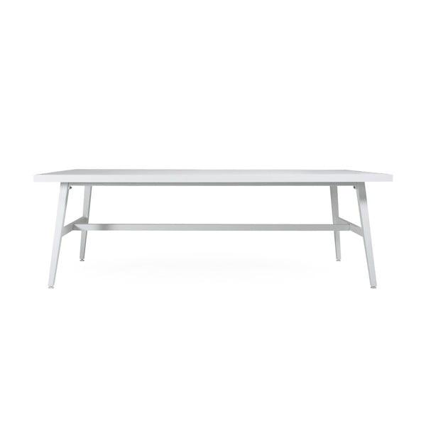 Bílý zahradní jídelní stůl Brafab Calmar, 220x106cm