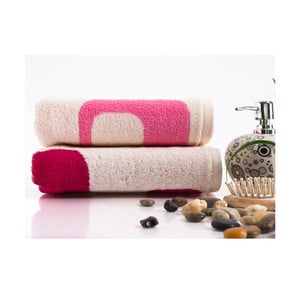 Sada 2 ručníků Alba Pink, 50x90 cm
