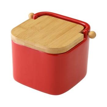 Recipient din ceramică pentru sare Unimasa, 750 ml, roșu