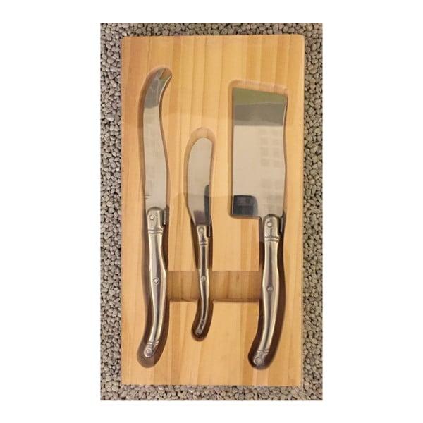 Set 3 cuțite pentru brânzeturi Steel Function Cheese