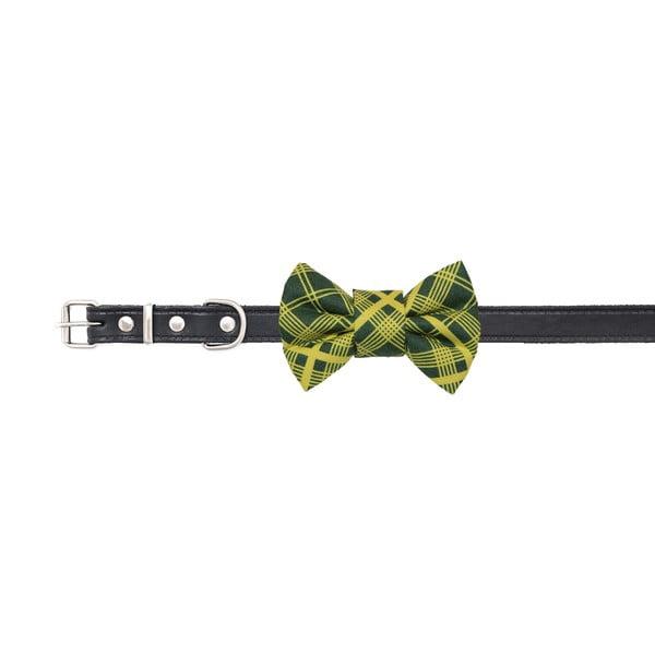Zelený károvaný charitativní psí motýlek Funky Dog Bow Ties, vel. L