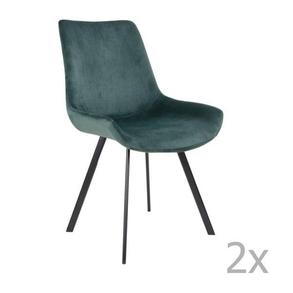 Zestaw 2 zielonych krzeseł House Nordic Drammen