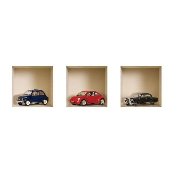 Autocolate perete 3D Nisha Voitures, 3bucăți