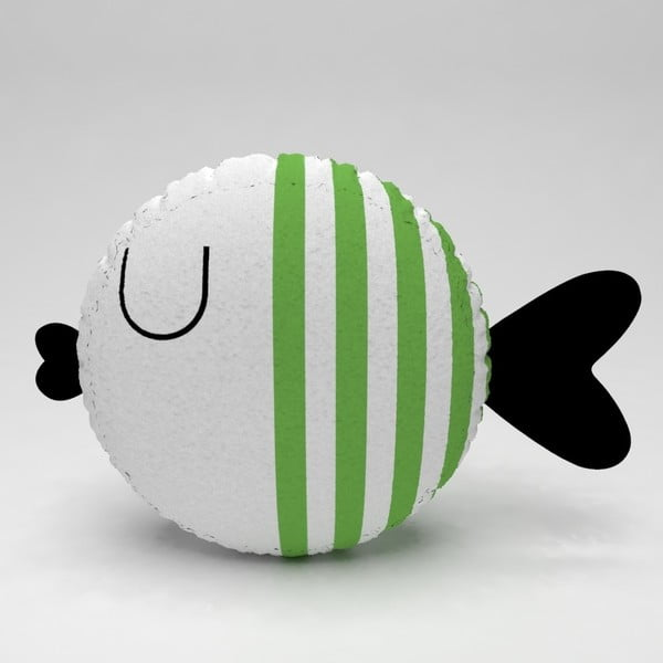 Detský vankúšik OYO Kids Fish With Green Stripes