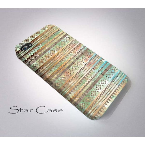 Obal na iPhone 4/4S Wood Tribal Beige