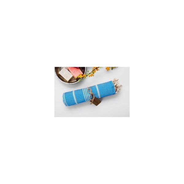Hamam osuška Sabba Turquoise, 100x180 cm