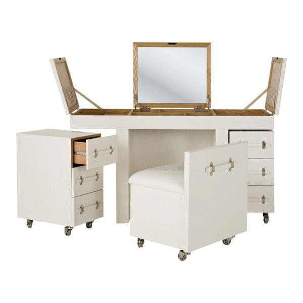 Bílý toaletní stolek Kare Design Diva