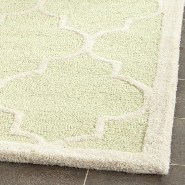 Vlněný koberec Everly Light Green, 121x182 cm