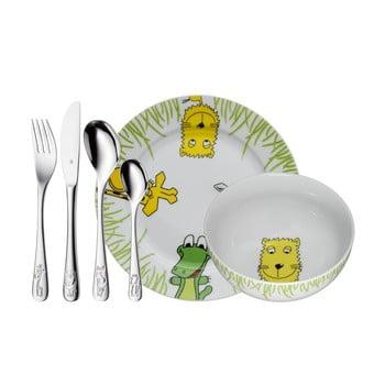 Set masă din 6 piese pentru copii WMF Cromargan® Safari imagine