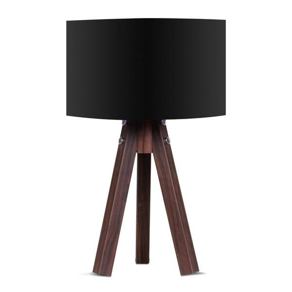 Kahve asztali lámpa fekete lámpaburával - Kate Louise