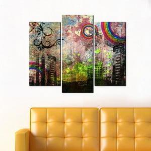 3dílný obraz Grunge City
