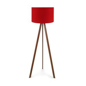 Volně stojící lampa s červeným stínidlem Kasso