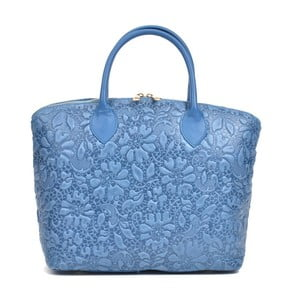 Modrá kožená kabelka Anna Luchini Rusterio