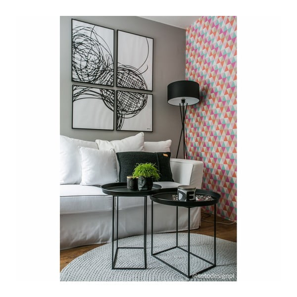 Černý kovový konferenční stolek Nørdifra Ramme, ⌀63cm
