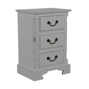 Noční stolek se 3 zásuvkami Antique Taupe