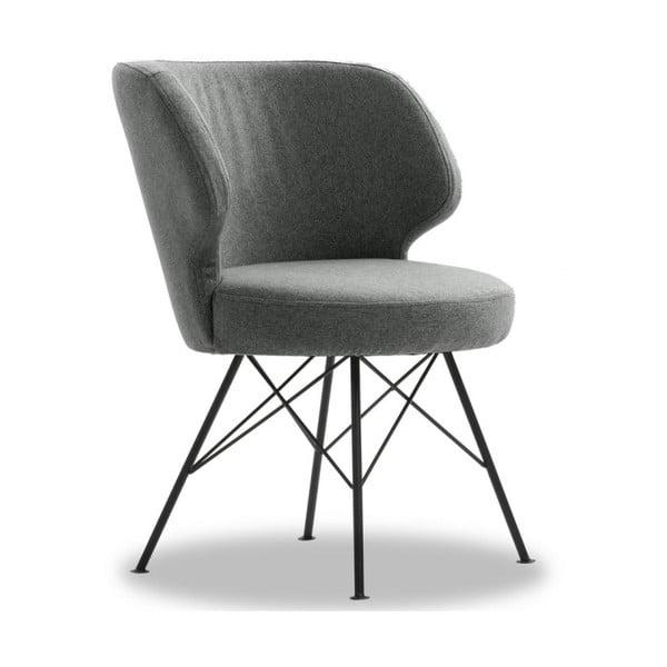 Šedá židle VIDA Living Erwan