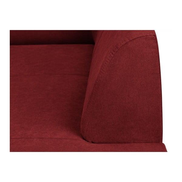 Canapea 3 locuri Kooko Home Piano, roșu