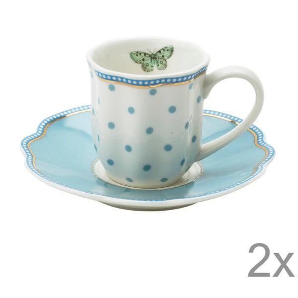 Porcelánový šálek na espresso s podšálkem Minitie od Lisbeth Dahl, 2 ks