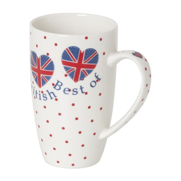 Hrnek z kostního porcelánu Sabichi Best of British, 380 ml