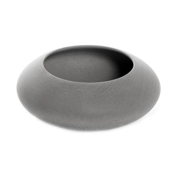 Šedá betonová miska Iris Hantwerk, Ø13.5 cm