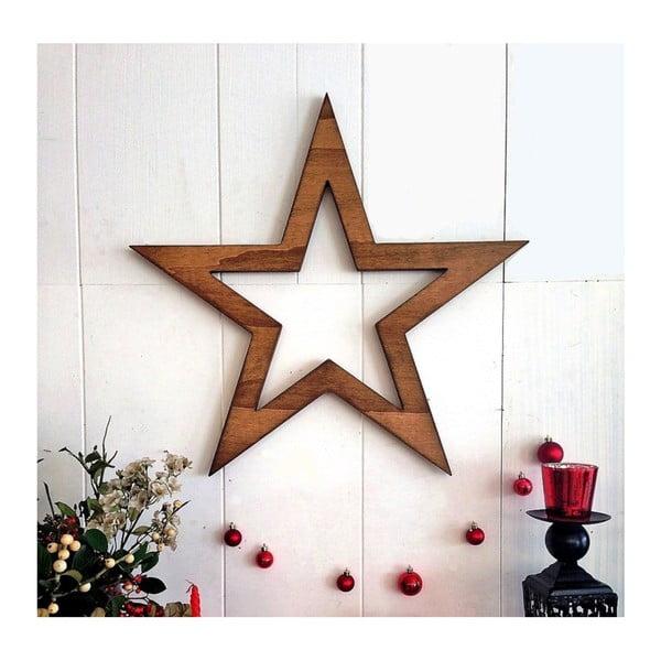 Vianočná nástenná dekorácia Hello Star, 62 x 1,8 x 62 cm