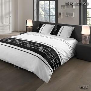 Povlečení Descanso Textile White and Black, 140x200 cm