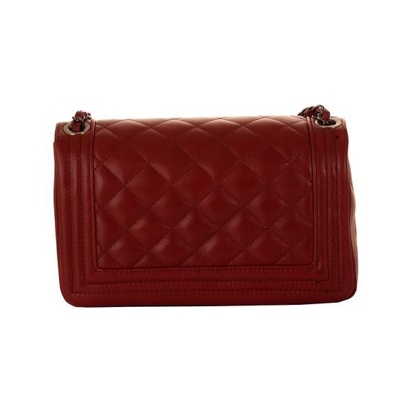 Rubínově červená kožená kabelka Andrea Cardone 2033