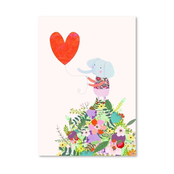 Plakát od Mia Charro - Elephant Heart