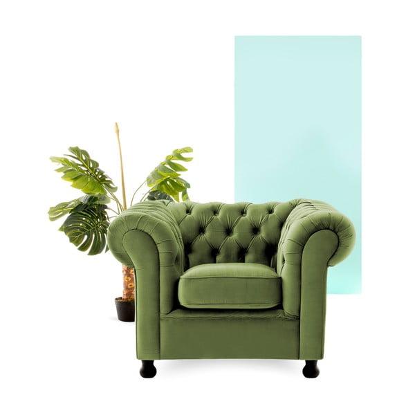 Fotoliu Vivonita Chesterfield, verde