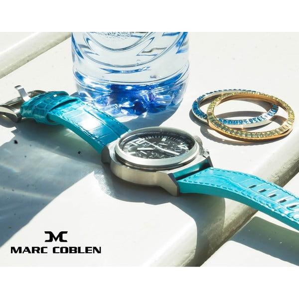 Dámské hodinky Marc Coblen s páskem a kroužkem navíc P115
