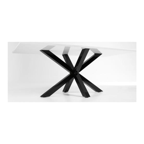 Jídelní stůl Arya, 200x100cm, černé lakované nohy
