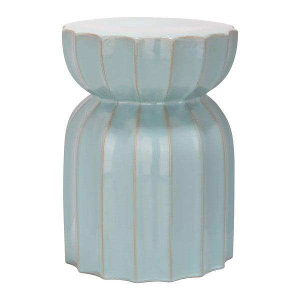 Keramický stolek Sculpted Lotus Light Aqua