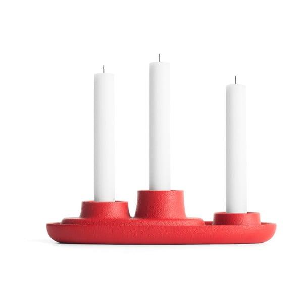 Aye Aye Three Candles piros gyertyatartó - EMKO
