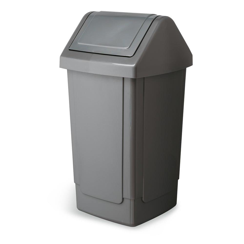 Velký šedý odpadkový koš Addis Swing Bin, 33 x 33 x 66,5 cm