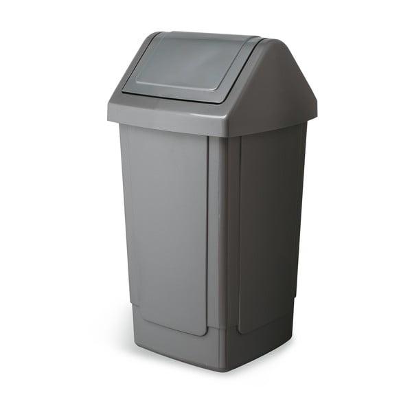 Coș de gunoi Addis Swing Bin, 33 x 33 x 66,5 cm, gri