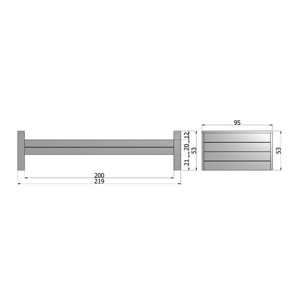 Bílá postel De Eekhoorn Robin, 90x200cm