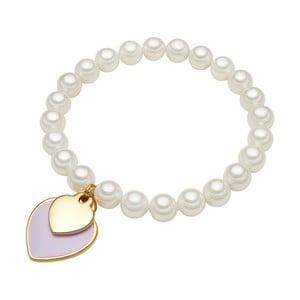 Náramek s bílou perlou Perldesse Ula,⌀0,8xdélka 19cm